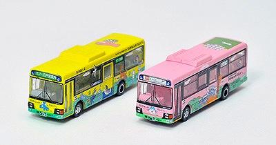 南部バス 11ぴきのねこ ラッピングバス2台セット 1/150