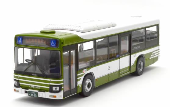 広島電鉄 三菱ふそうMPノーステップバス 1/76 ポルト出版
