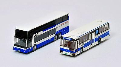 JRバス中国 発足30周年記念2台セット 1/150