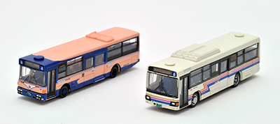 中鉄バス 新旧カラー2台セット バスコレ 1/150