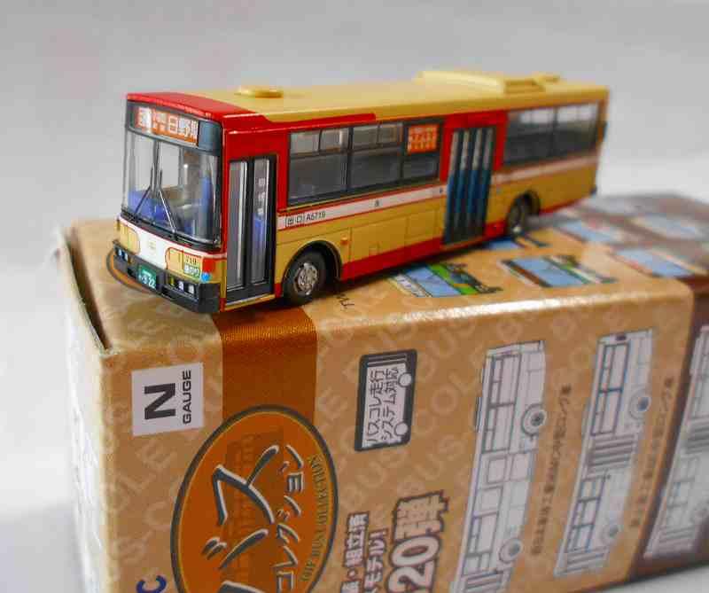 西東京バス 富士重工8E中型ロング車 「日野駅」 バスコレ第20弾