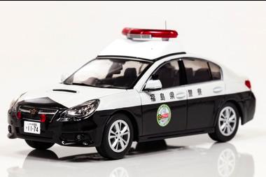 スバル レガシー B4 2.5GT 福島県警察ウルトラ警察隊 1/43  H7431303