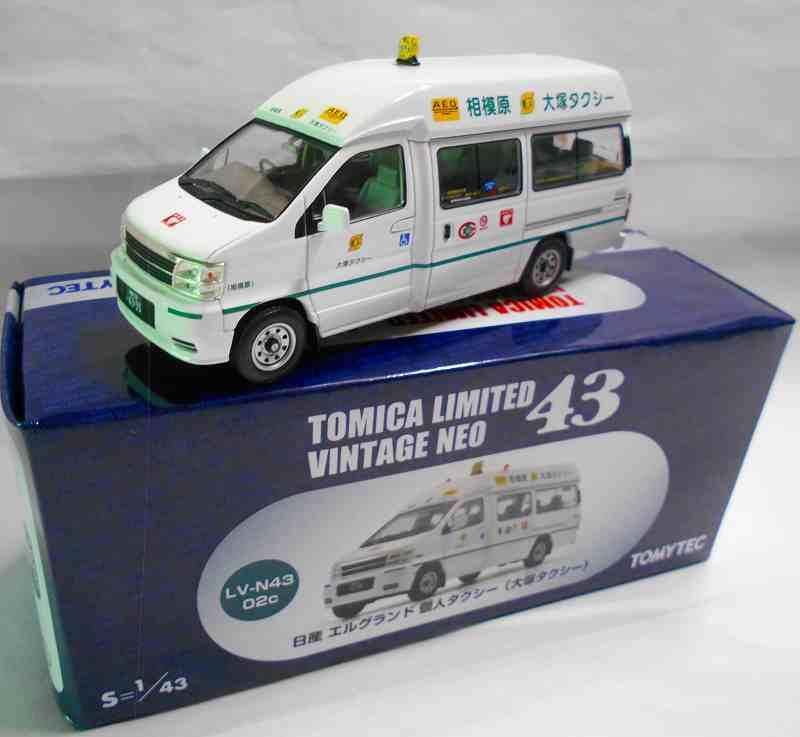 日産 エルグランド 個人タクシー(大塚タクシー) N43_02c  1/43