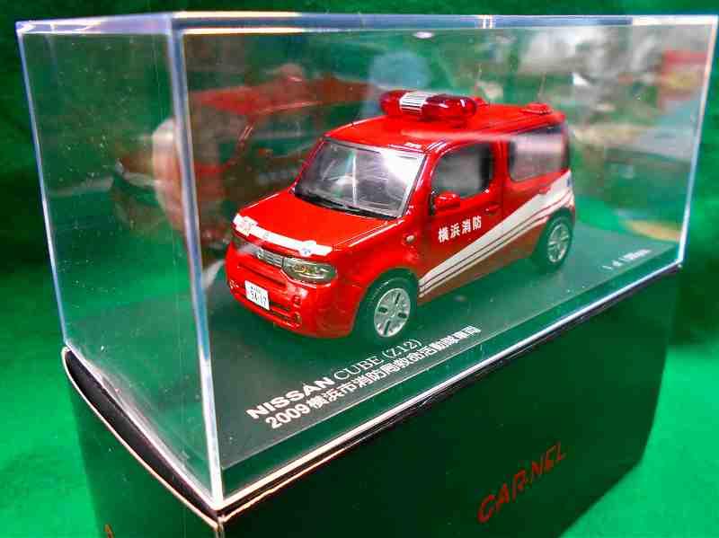 ニッサン キューブ(Z12)2009 横浜市消防局救命活動隊車両 1/43 CN430901