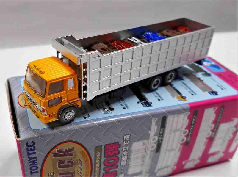 日野スーパードルフィン 産業廃棄物収集運搬車 (黄) トラックコレクション 第10弾