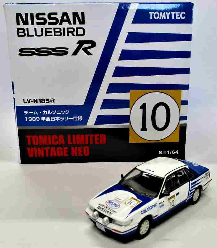 ニッサン ブルーバード SSS-R チーム・カルソニック No10 1989年 全日本ラリー n185d
