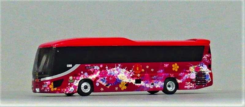 西日本ジェイアールバス いすゞガーラHD 『花嫁のれん第二章』 アドウィング社(レジン製)