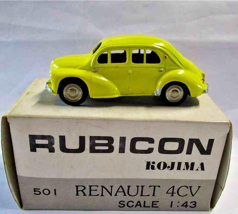 ルノー 4CV (黄色) 1/43 RUBICON  No.501 (日本製)