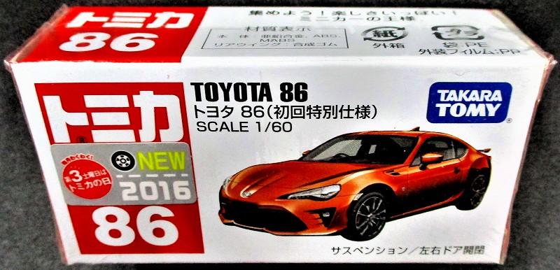 トヨタ 86 初回特別仕様 赤箱トミカー086