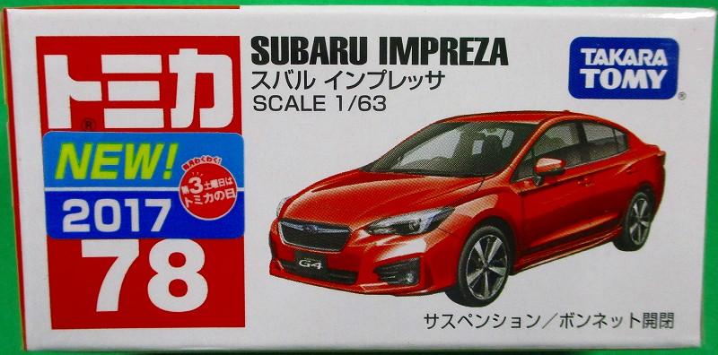 スバル インプレッサ 赤箱トミカー078