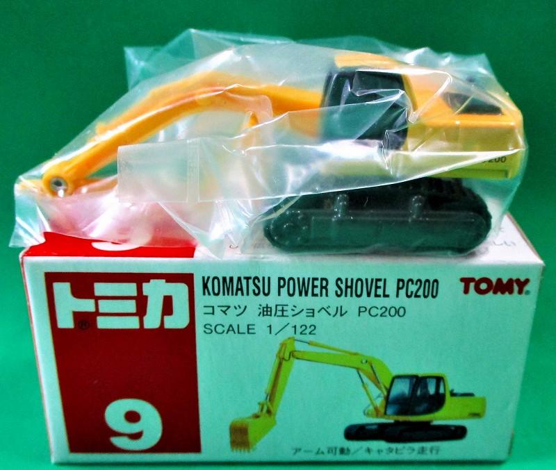 コマツ 油圧ショベル PC200 旧・赤箱トミカー009