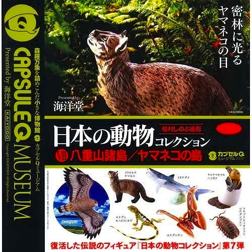 日本の動物コレクション 八重山諸島/ヤマネコの島 全7種セット カプセルQ ガシャポン