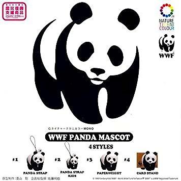 WWF パンダマスコット 全4種セット KITAN★CLUB ガシャポン