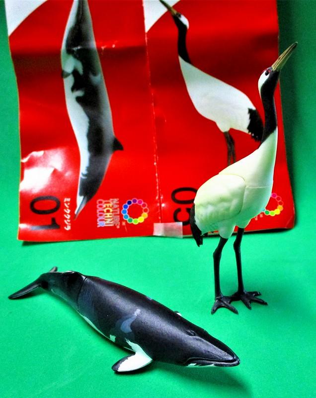 タンチョウ & ミンククジラ 2種セット 「日本のいきもの」 KITAN★CLUB ガシャポン