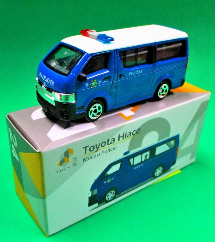 トヨタ ハイエース マカオ警察 TINY 64037