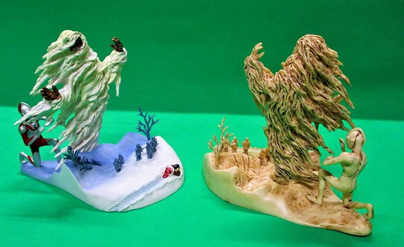 まぼろしの雪山 カラーver & 象牙ver 2種セットー1 ウー VS ウルトラマン 開田裕治 ART WORKS