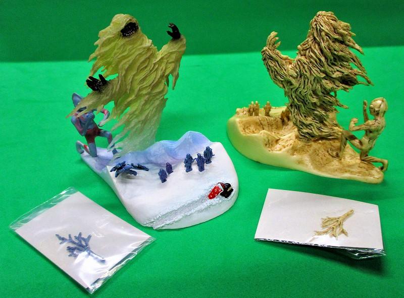 まぼろしの雪山 カラーver & 象牙ver 2種セットー2 ウー VS ウルトラマン 開田裕治 ART WORKS